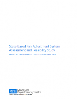 cover page of State-Based Risk Adjustment System Assessment and Feasibility Study